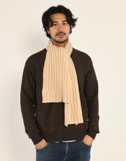 Thick-Rib Cashmere Scarf