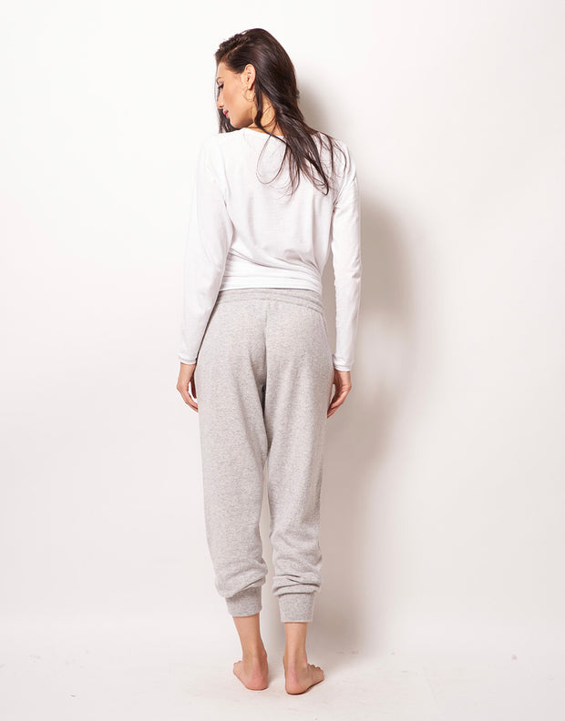 Relaxed Cashmere Pants in Platinum