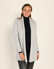 Short Pillar Cardigan in Platinum