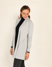 Short Pillar Coat in Platinum