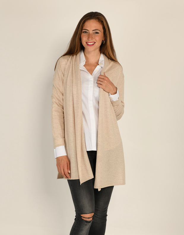 Short Pillar Coat in Wheat