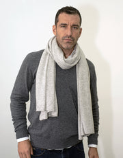 The Soft Cashmere Scarf in Platinum