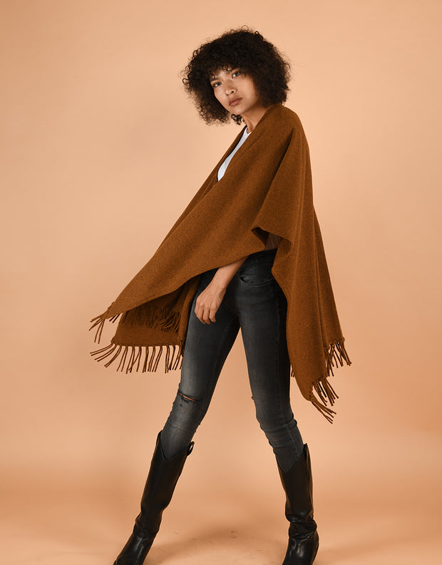 Tassel Cape in Curry