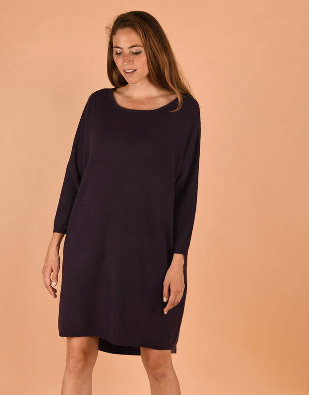Tee Dress in Aubergine