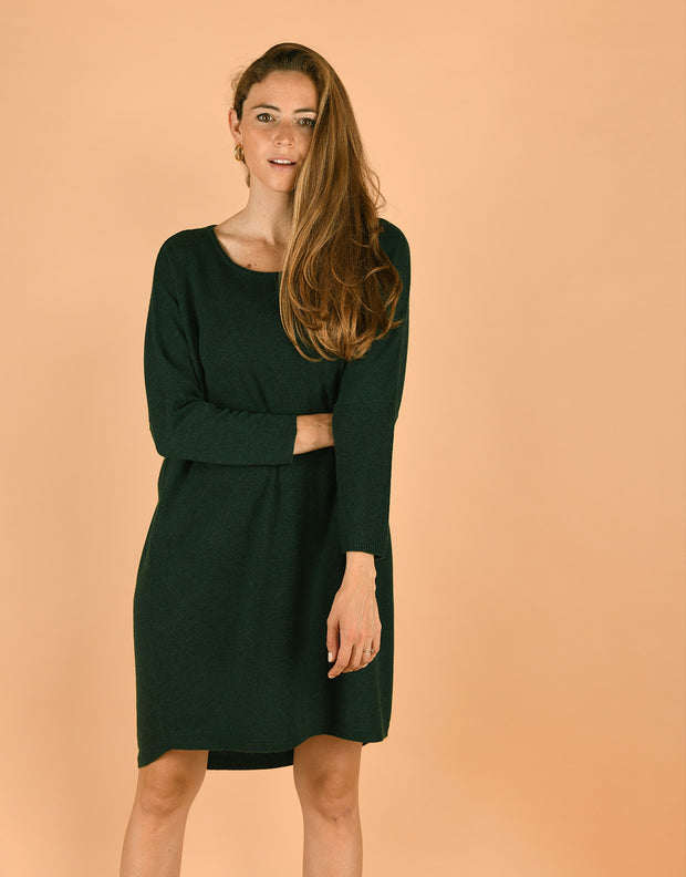 Tee Dress in Seaweed