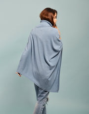 The Ribbed Cowl Poncho in Wave