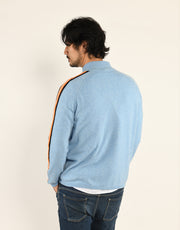 The Cashmere Roger Top in Beach Blue