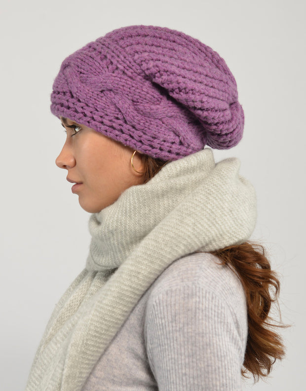 Thick Cable Hem Beanie