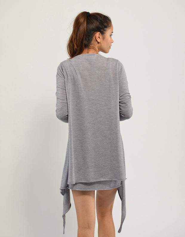 Ultrafine Cashmere Cruise Cardigan in Slate
