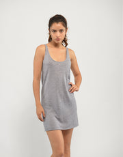 Ultrafine Cashmere Slip Dress in Slate