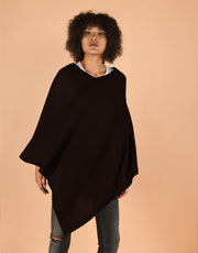 Ultra Soft Poncho in Black