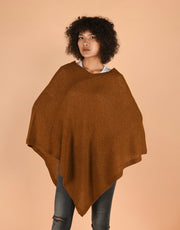 Ultra Soft Poncho in Curry