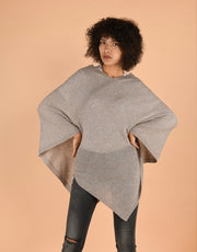Ultra Soft Poncho in Quinoa