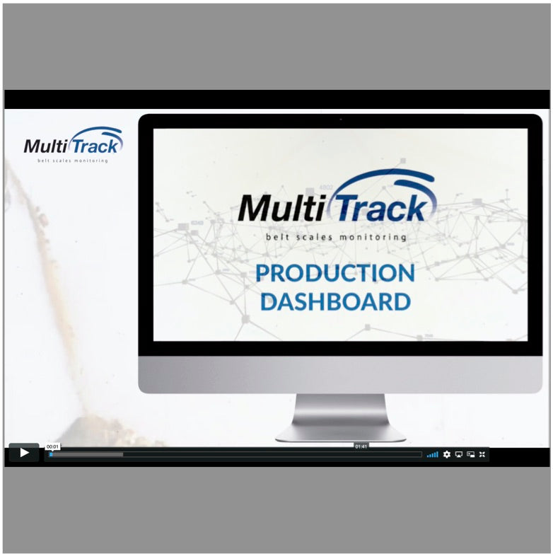 Multitrack Belt Scales Monitoring - Production Dashboard Overview