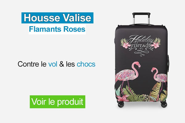 Housse valise flamants roses