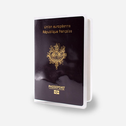 Protège passeport transparent