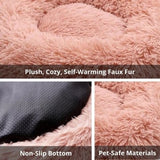 Benefits Fluffy Round Marshmallow Calming Anti Anxiety Cat Dog Bed For Kitten And Puppies-My Purry Friends