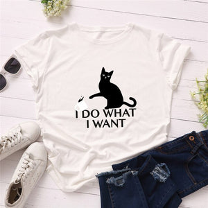 I Do What I Want T-Shirt - T-Shirts - My Purry Friends - Online shop for everything your cat wants.