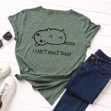 I Can't Adult Today T-Shirt - T-Shirts - My Purry Friends - Online shop for everything your cat wants.