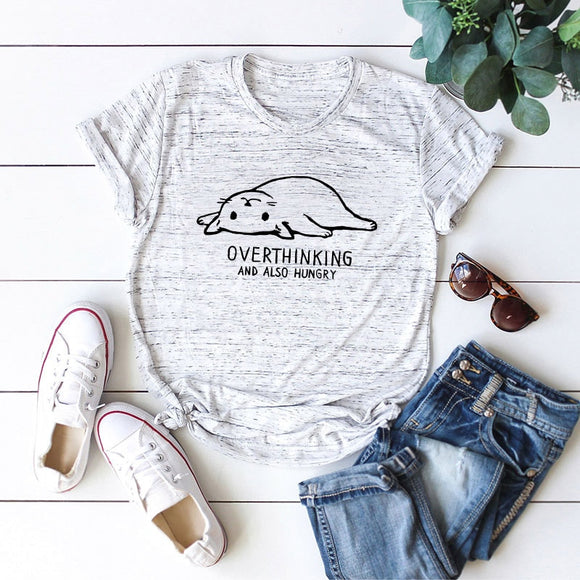Overthinking Cat T-Shirt - T-Shirts - My Purry Friends - Online shop for everything your cat wants.