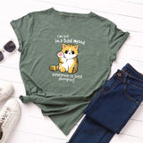 Bad Mood Cat T-Shirt - T-Shirts - My Purry Friends - Online shop for everything your cat wants.