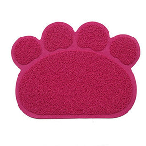 Paw Print Cat Litter Mat - Accessories - My Purry Friends - Online shop for everything your cat wants.
