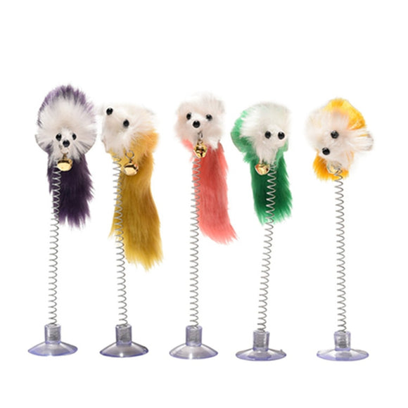 Elastic Mouse Toy with Feather - Toys - My Purry Friends - Online shop for everything your cat wants.