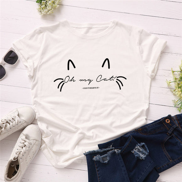 Oh My Cat T-Shirt - T-Shirts - My Purry Friends - Online shop for everything your cat wants.