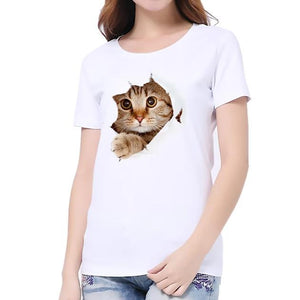 3D Print Cat T-Shirt - T-Shirts - My Purry Friends - Online shop for everything your cat wants.