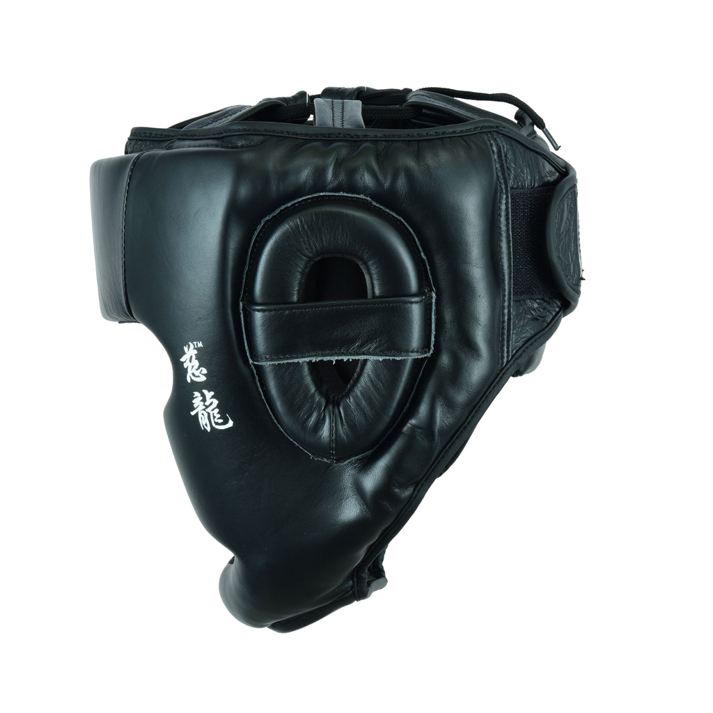 MIRARI® Head Guard with Chin Protector Black