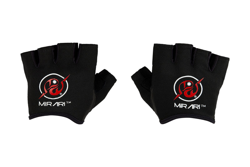 Fitness Gloves Ribbed; Black Leather