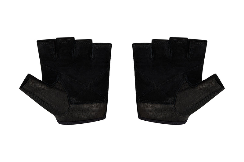 Fitness Gloves Ribbed; Black Leather US PATENT D892411