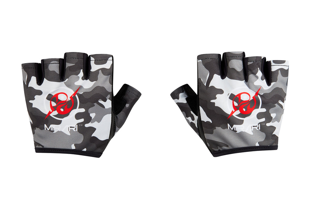 Fitness Gloves; Black Camo Leather
