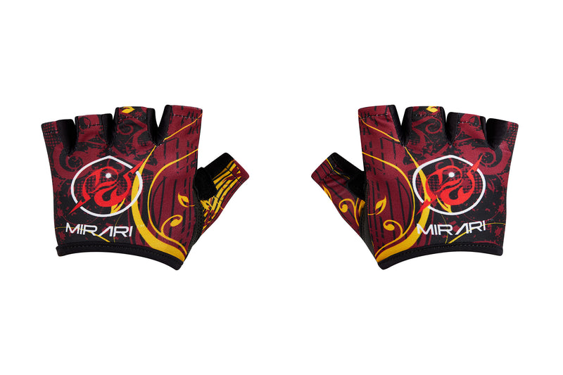 Fitness Gloves; Graphics; Maroon Gold Leather