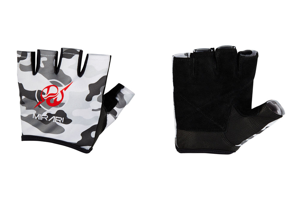 Fitness Gloves; White Camo Leather