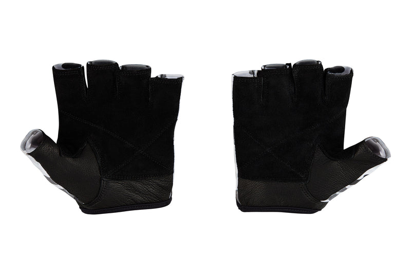 Fitness Gloves; White Camo Leather US PATENT D892411