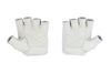 Fitness Gloves Ribbed; White Leather US PATENT D892411