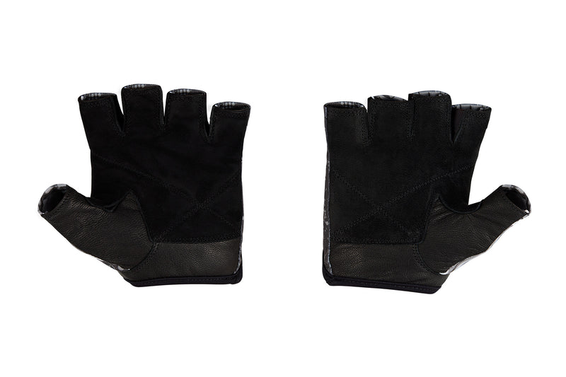 Fitness Gloves; Graphics; Black White Leather US PATENT D892411
