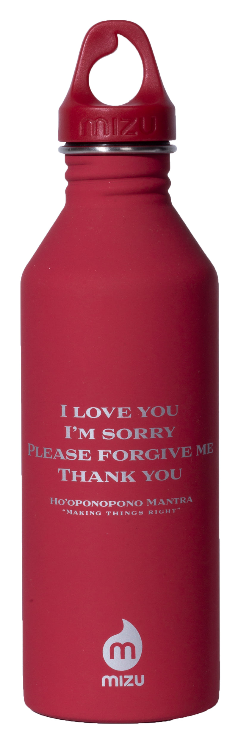MIRARI® // Divine Warrior® Collection Water Bottle Red with Silver Label