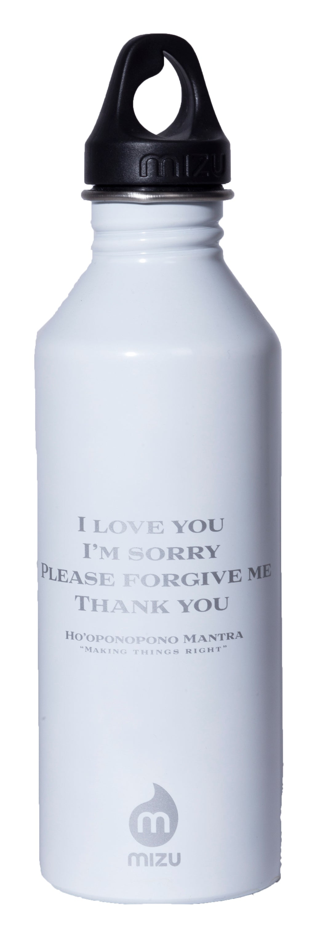 MIRARI® // Divine Warrior® Collection Water Bottle White with Silver Label