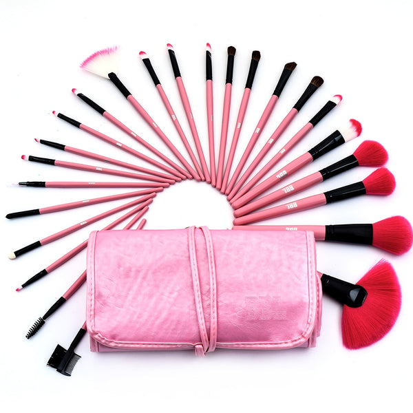 24 pcs Awesome Professional Beauty Tool Makeup Brushes Set for Women - THE FASHION POP