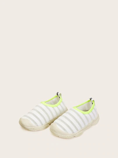 Baby Boys Striped Slip On Sneakers