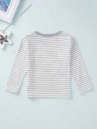 Baby Striped Animal Patched Top