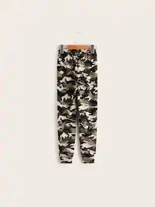 Boys Camo And Slogan Print Slant Pocket Sweatpants