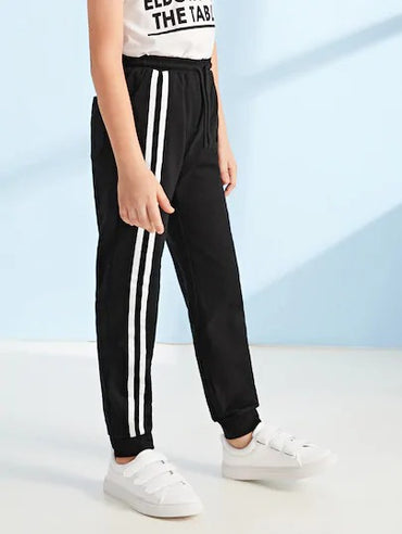 Boys Striped Side Sweatpants
