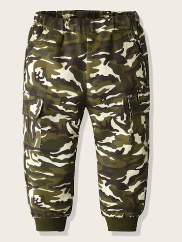 Toddler Boys Camo Flap Pockets Cargo Pants