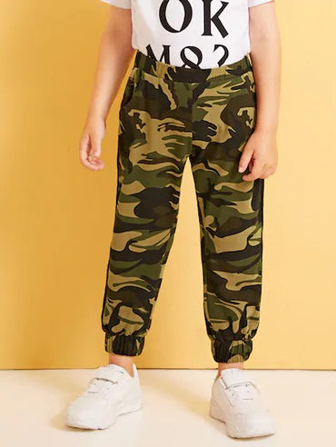 Toddler Boys Camo Print Sweatpants