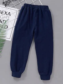 Toddler Boys Contrast Panel Stripe Print Sweatpants