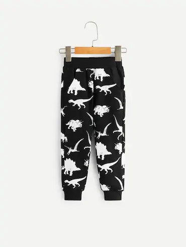 Toddler Boys Dinosaur Print Pants