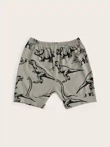 Toddler Boys Dinosaur Print Shorts